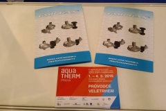 Výstava AQUATHERM Praha 2016 - 1.3. 2016
